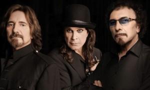 Geezer Butler, Ozzy Osbourne and Tony Iommi of Black Sabbath