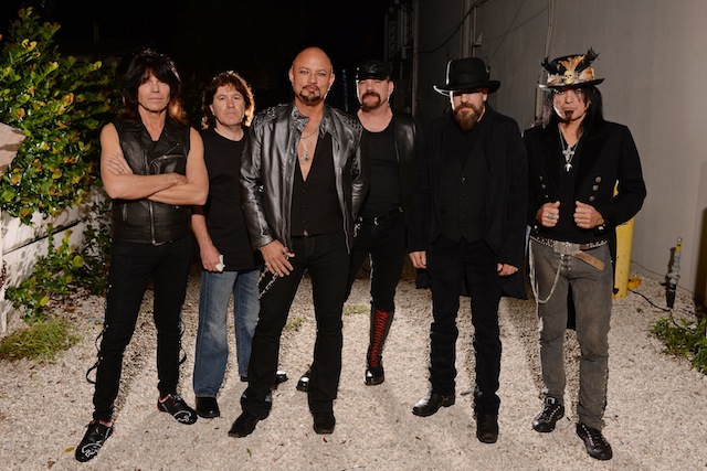 Queensryche pose for a portrait at The Culture Room.