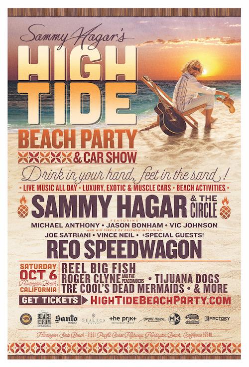 SAMMY HAGAR ANNOUNCES THE LINEUP FOR HIS INAUGURAL HIGH TIDE BEACH - Car show huntington beach